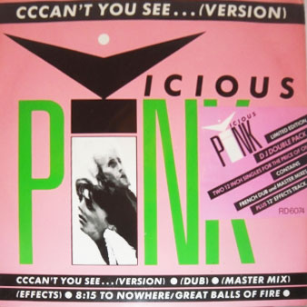 "vicious pink cccan't you see double 12"" cover art"