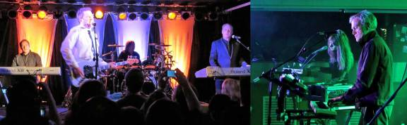 Left: OMD in Atlanta ca. 2011 © Post-Punk Monk Right: John Foxx + The Maths ca. 2012 © Mike Cooper