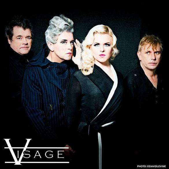 Visage 2013 | L/R: Steve Barnacle, Steve Strange, Lauren Duvall, Robin Simon