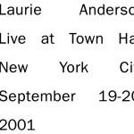 laurie anderson - liveattownhallUS2xCDA