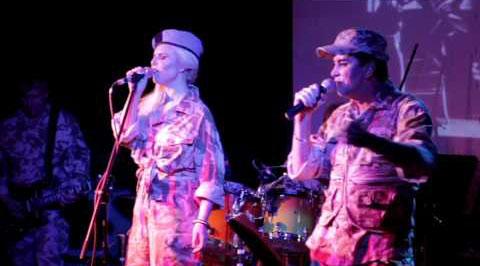 Visage Live in 2013 [L-R: Lauren Duvall, Steve Strange]