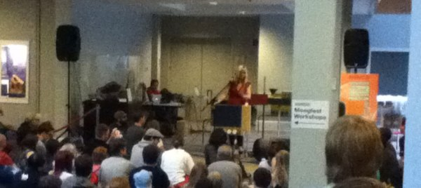 Dorrit Chrysler wows the crowd with her command of the Theremin