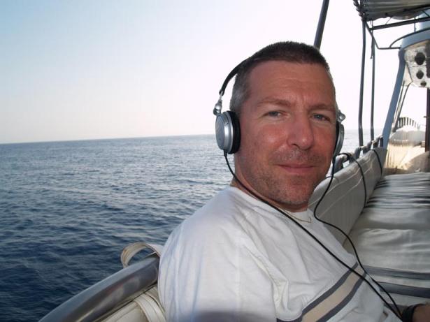 Shep Pettibone, chilling on the high seas in 2006