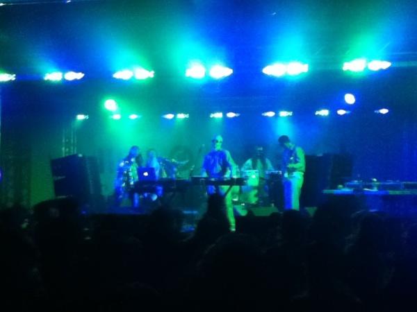 Viva Ruiz and Gavin Russom's Crystal Ark took flight in the UCCC Basement at Moogfest 14