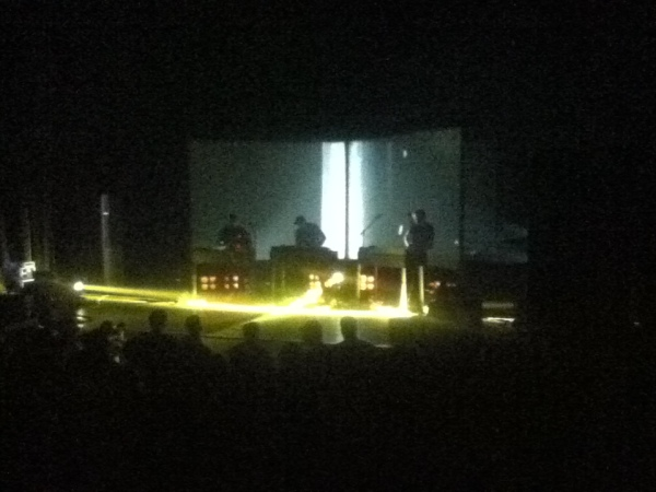 Moderat had a very intense light show for an intimate theatre