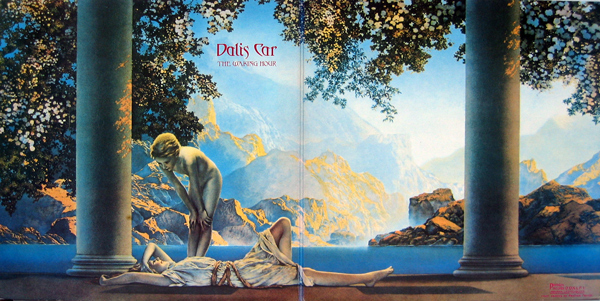 the more accurate color correction for the sumptuous Parrish artwork on the original gatefold LP which is not on my racks