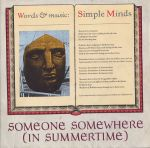 simple minds - someone somewhere in summertimeUK7A