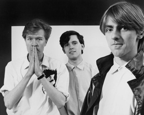 Vice Versa ca. 1980: L-R: Martin Fry, Mark White, Stephen Singleton