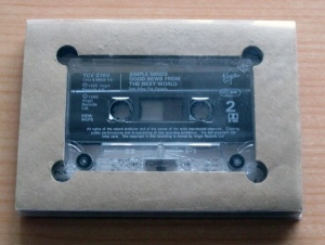 the cardboard cassette container