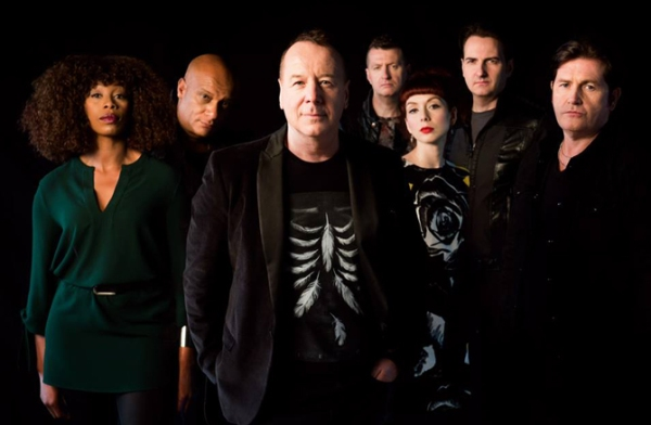 Simple Minds 2015 [L-R] Sarah Brown, Mel Gaynor, Jim Kerr, ged Grimes, Catherine AD, Andy Gillespie, Charlie Burchill