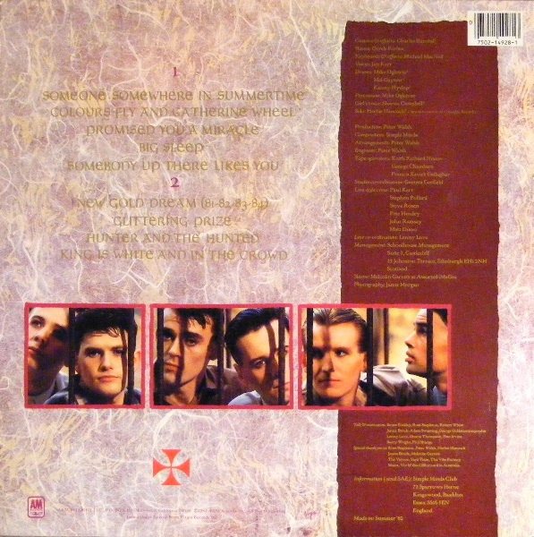 Simple Minds Sidebar 1: Ranking The Cover Art [part 3