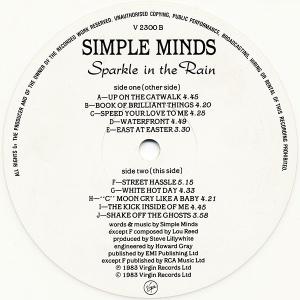 simple minds - sparkleintherainUKLAB