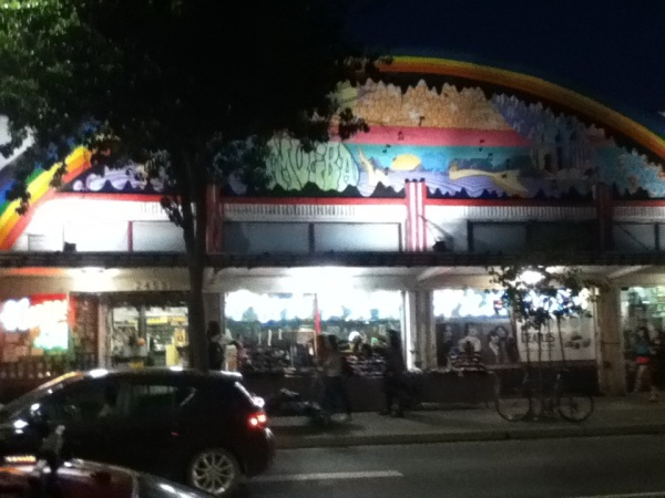 Amoeba Berkeley by night…