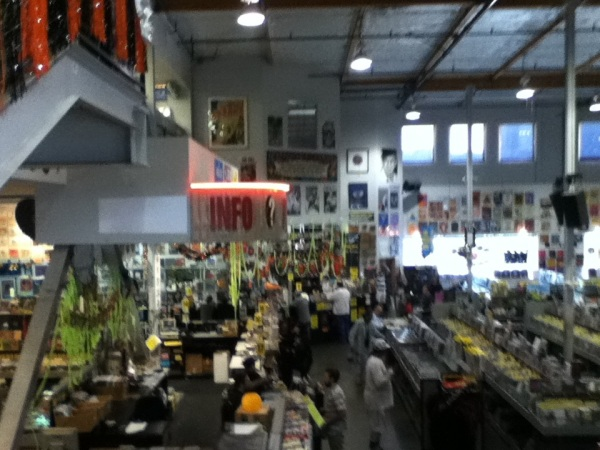 Two stories of fun were packed into Amoeba Hollywood