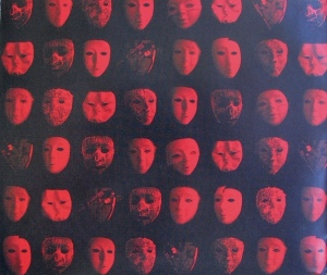 Mask images on the CD booklet