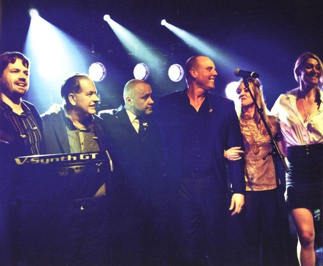 L-R: Asa Bennett, Martyn Ware, Julian Crampton, Glenn Gregory, Billie Godfrey, Berenice Scott [not pictured: Al Anderson]