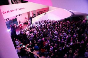 The crowd, 550 strong at the Museum Of Liverpool © 2014 Dave Munn