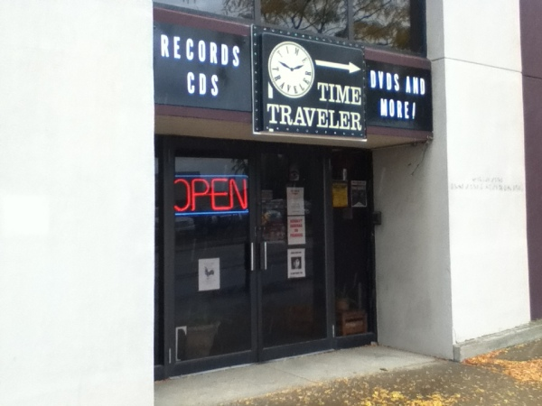 The new face of Time Traveler Records, now at 118 W. Market St., Akron
