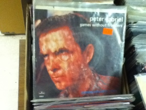 """Peter Gabriel's """"Games Without Frontiers"""" on 7"""" is always a good sign"""