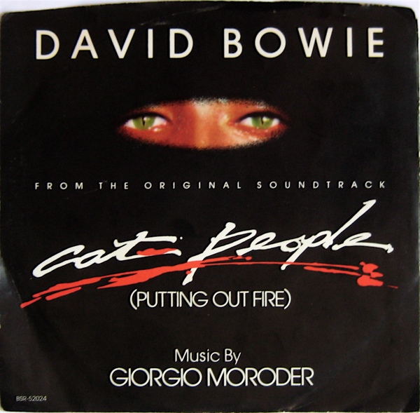 david bowie cat people US single cover