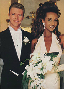 After a civil ceremony in Switzerland, Bowie and Iman had a lavish public wedding