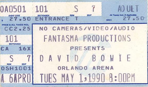 Sound + Vision Tour ticket
