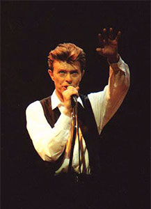 Bowie resurrected the Thin White Duke wardrobe, if not hairstyle