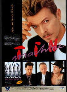 This Japanese ad showed who was the star of Tin Machine