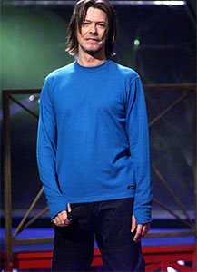 In 1999 Bowie managed long hair without the dreaded mullet