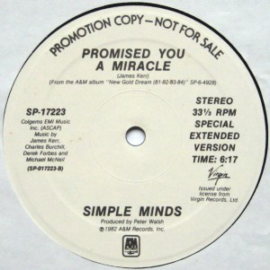 simple minds - PYAMUSP12A