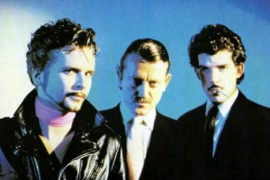 Yello ca. 1981: L-R Carlos Peron, Dieter Meier, Boris Blank