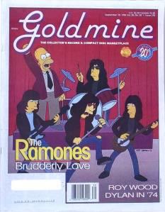 goldmine magazine - ramones cover
