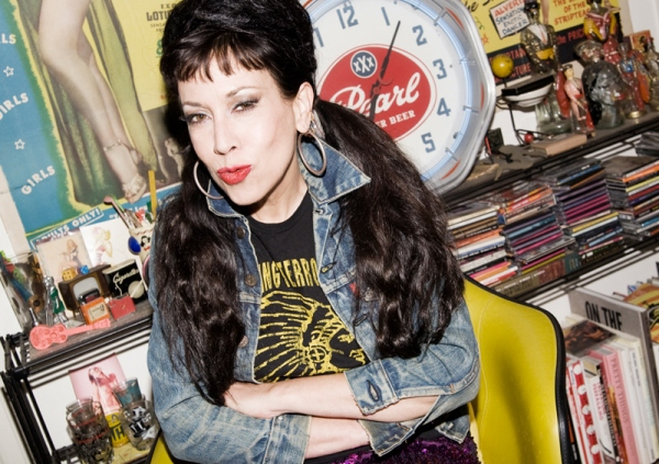 Rockabilly style icon Pearl Harbour in her home full of vintage swag