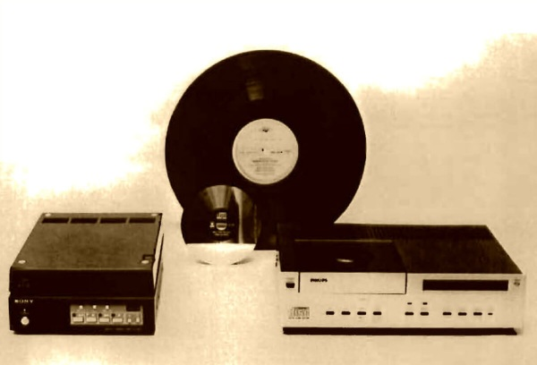 The CD in 1981 - Sony [L] + Philips [R} prototypes