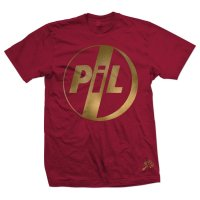 Want List: PiL Logo Gold on Red Tee Shirt