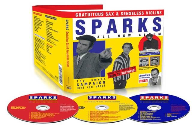 sparks gratuitous sax + senseless violins 3 disc set
