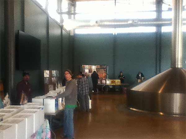 A record show in a brewery?
