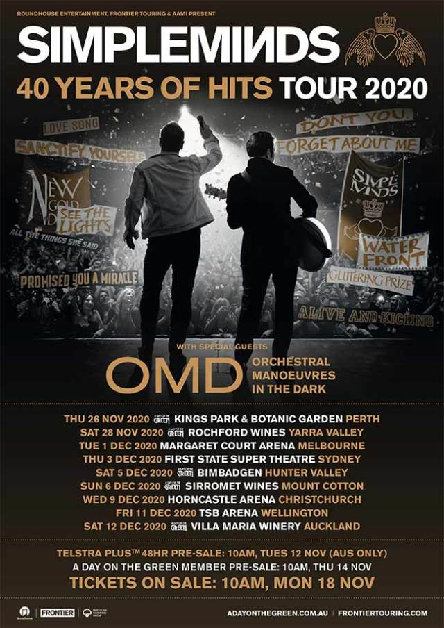 Simple Minds and OMD live in Australia poster