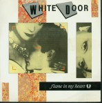 white door flame in my heart single cover