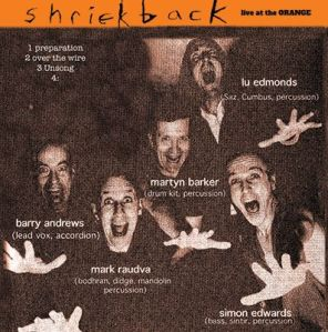 shriekback - live at the orange '94 CD cover