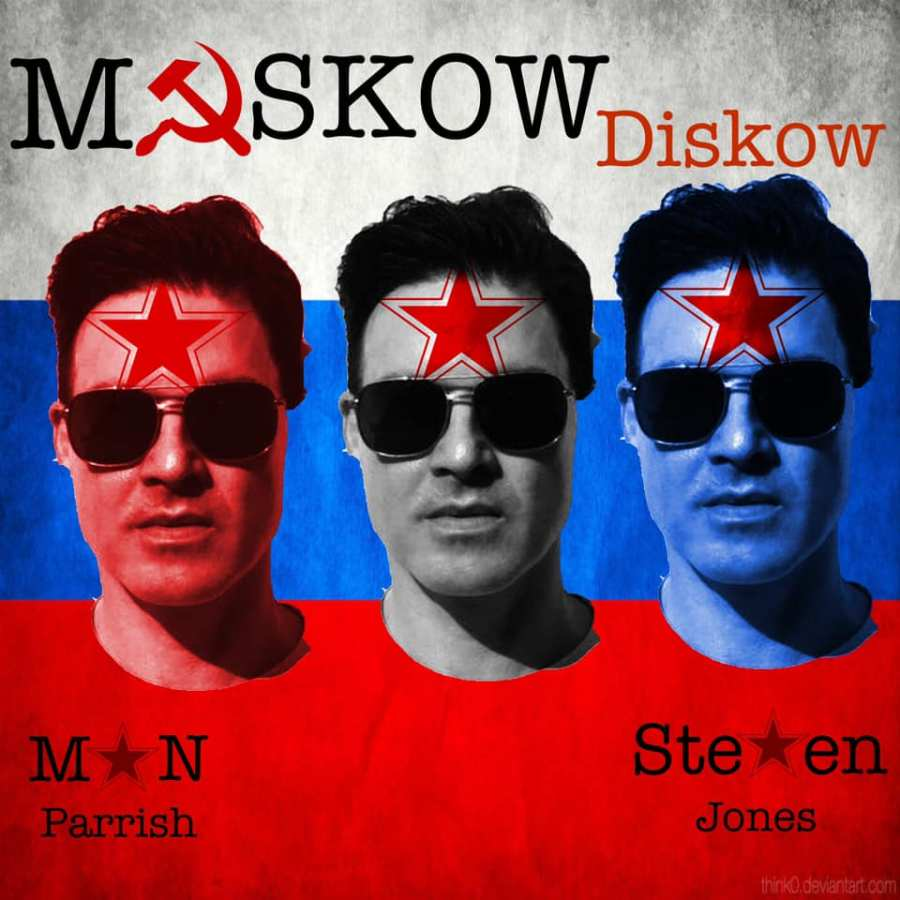 man parrish + steven jones - moskow diskow cover