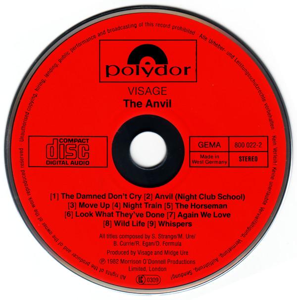 visage - the anvil german 1983 CD label