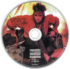 visage - 2018 edition CD label art