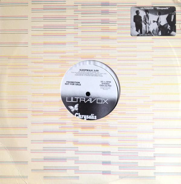 "ultravox sleepwalk US promo 12"" single cover"
