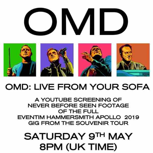 OMD live from your sofa show poster
