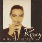 "ronny - if you want me to stay UK 12"" sleeve"