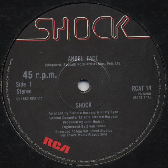 """shock - angel face UK 12"""" label"""