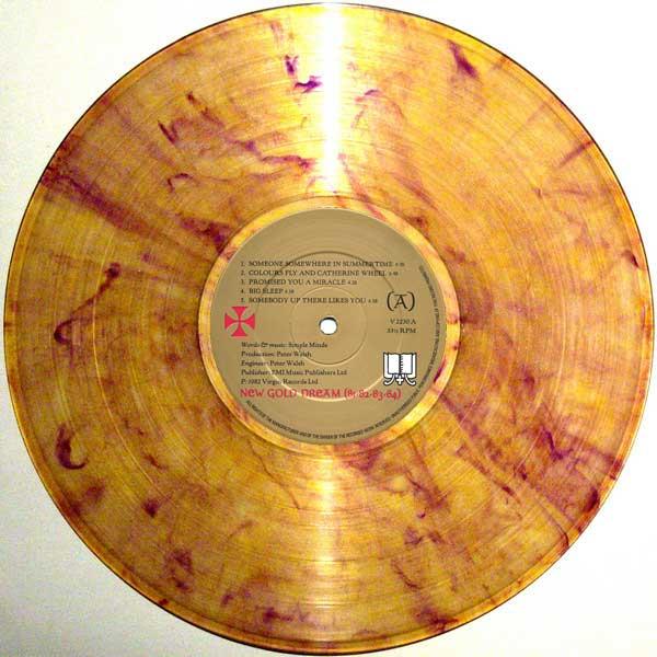 New Gold Dreamm colored vinyl LP with original UK label art