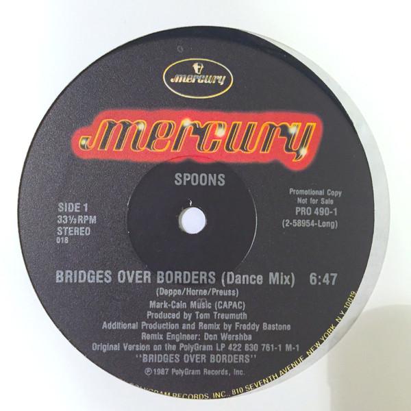 "spoons - bridges over borders US Promo 12"" label"