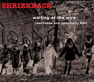 shriekback waiting at the wire cover art